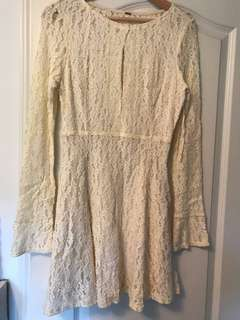 Free people long sleeve lace dress