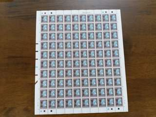 港英年代女皇頭1元5角版票。全新冇王