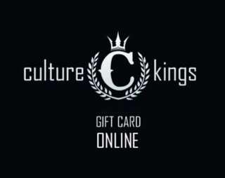 20% off Culture Kings $160 gift card