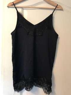 TOPSHOP silk lace blouse