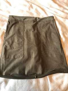 Mendocino suede mini skirt