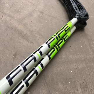 Floorball Stick FAT PIPE Comet 27 White-Green 96cm with Medium Raw Blade