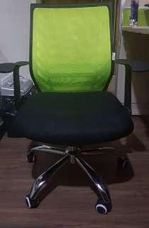 Green mesh office chair