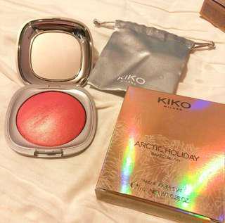 Kiko Arctic Holiday baked blush 胭脂 dreaming blush 02