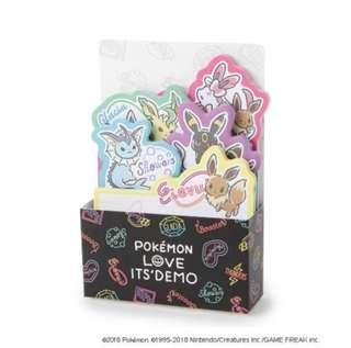 Pokemon Love Its' Demo Eevee Sticky Note Set