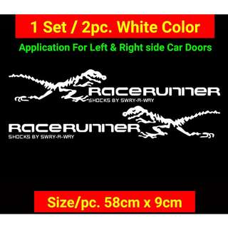 Race Runner T-Rex Decals For Car Sides