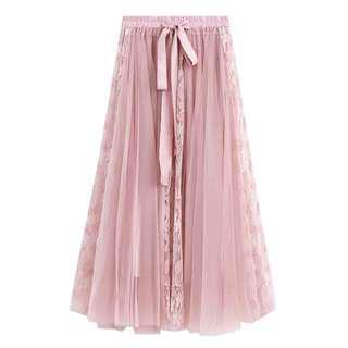 Lace Tutu Maxi Skirt