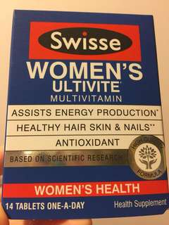 Swisse Women's ultivite 女士多元複合維他命 14粒 存貨: 3