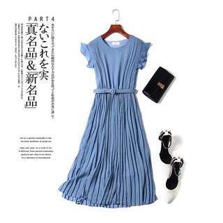 Basic Chiffon Pleated Dress