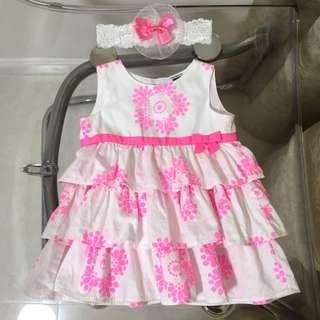 Carters Baby Girl Dress layer white 白色 花 連身裙
