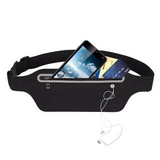 Ultra-Thin Water Resistant Running Pouch / Sports Phone Belt Slim Pack Waist Light Bag Band Zipper Pocket Bounce Free Reflective WaistPouch for Runner Exercise Travel Fitness Yoga Gym Marathon Cycling Jogging Fits iPhone X 8 7 Plus Samsung Xiaomi Oppo