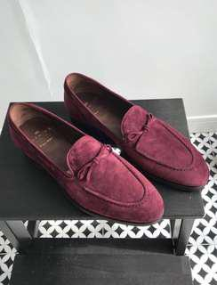 Carmina Burgundy String Loafers