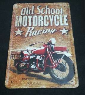 Tin Signboard (oldschool motorcycle)