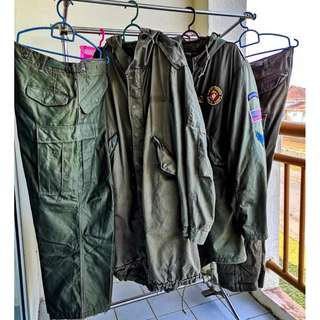 Vintage US Army Parka Shell fishtail M-1951
