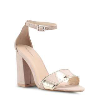 something borrowed ankle strap heels in light nude