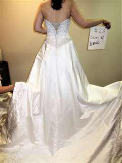 Wedding dress (long train)