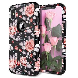 Floral Black iPhone Case Shockproof Case all units iPhone