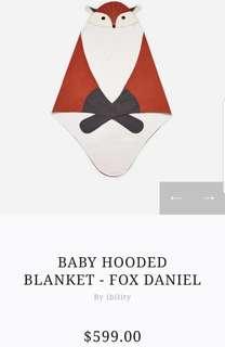 Baby blanket fox cute blanket 被仔 全新 百日宴 生日 初生 禮物