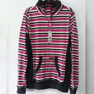 Large new longsleeve stripes sweater