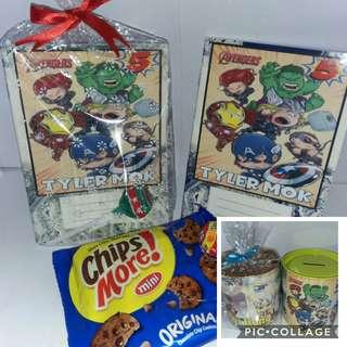 Customised Avengers Theme Goodie Packs
