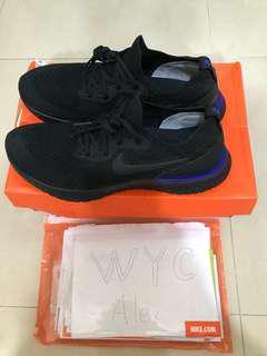 Nike React Flyknit 黑藍跑步波鞋