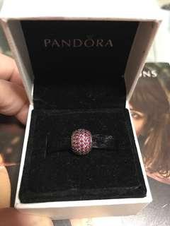 Pandora Charm - Red Pave Ball