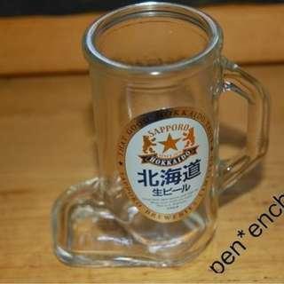 全新日本北海道迷你啤酒杯3隻
