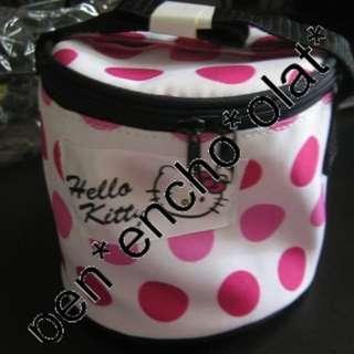 全新日本Hello Kitty 圓形手提食物袋飯盒袋