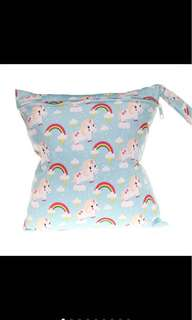 Unicorn blue or pink paste baby / Swimming  zip waterproof wet bag