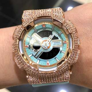 🚚 Casio BabyG RARE turquoise in rose gold