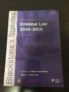 Criminal Law 2015-2016