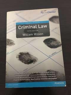 Criminal Law (5th Edition) - William Wilson