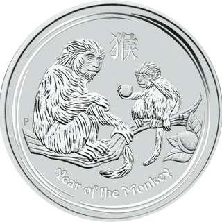 2016 澳洲農曆生肖系列 II - 猴年 .999銀幣1oz (含保護圓盒)