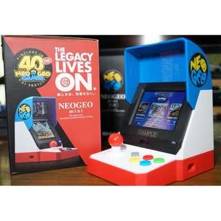 (行貨) (預訂) SNK NeoGeo Mini Neo Geo mini  迷你手提遊戲機  40週年紀念版遊戲機 懷舊遊戲