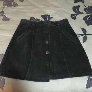 Button down skirt (felt texture)