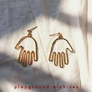 """Hand"" drop earrings"