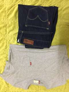 Levis pants and tees
