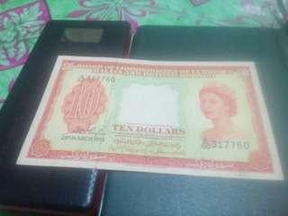 Malaya n british borneo, 10 dollars