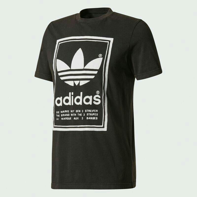 [現貨全新] adidas originals Japan big logo Tee black 黑色三葉logo