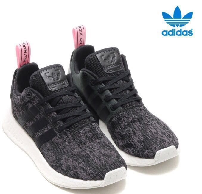 new arrival d5168 c757b Addidas NMD R2 Core Black Wonder Pink