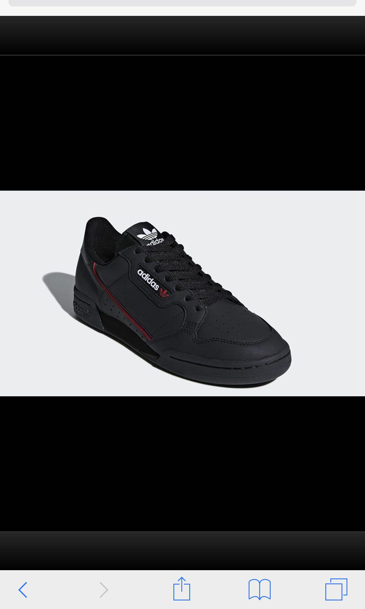 Adidas Continental 80 Rascal Shoes (Black)