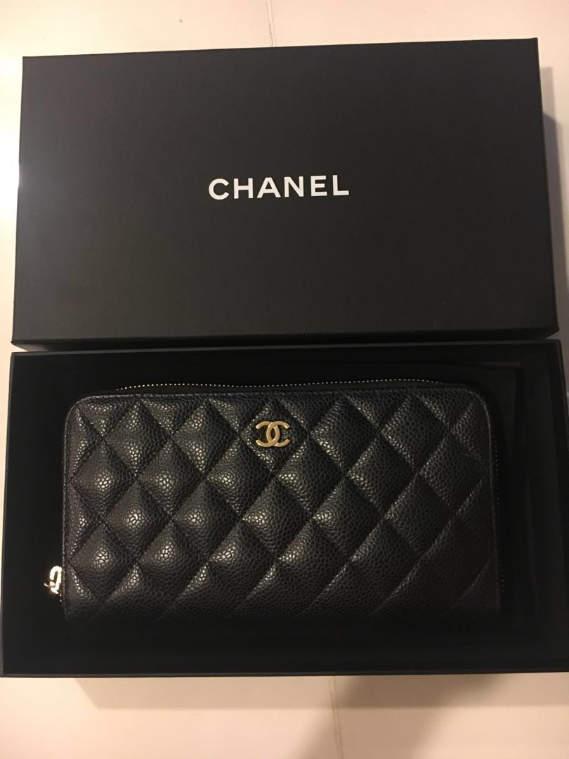 14b0beca3ba2 Authentic Chanel black caviar zippy Long wallet gold hardware, Luxury, Bags  & Wallets, Wallets on Carousell