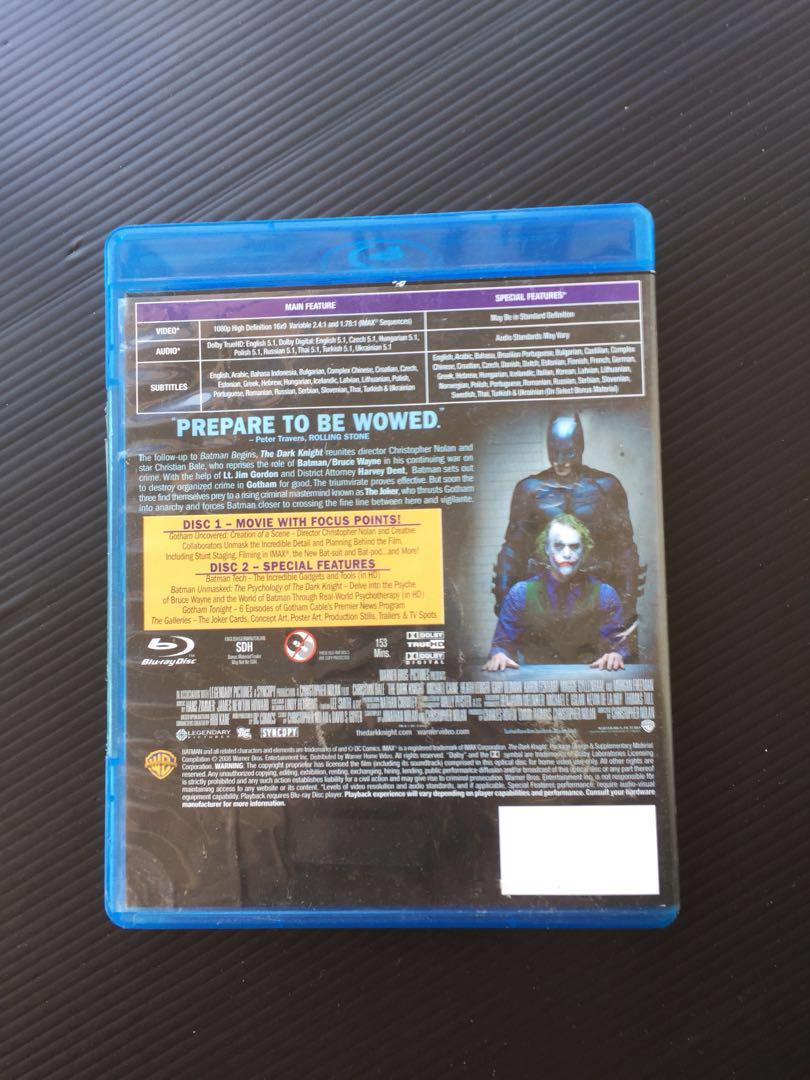 Batman The Dark Knight Original blu ray
