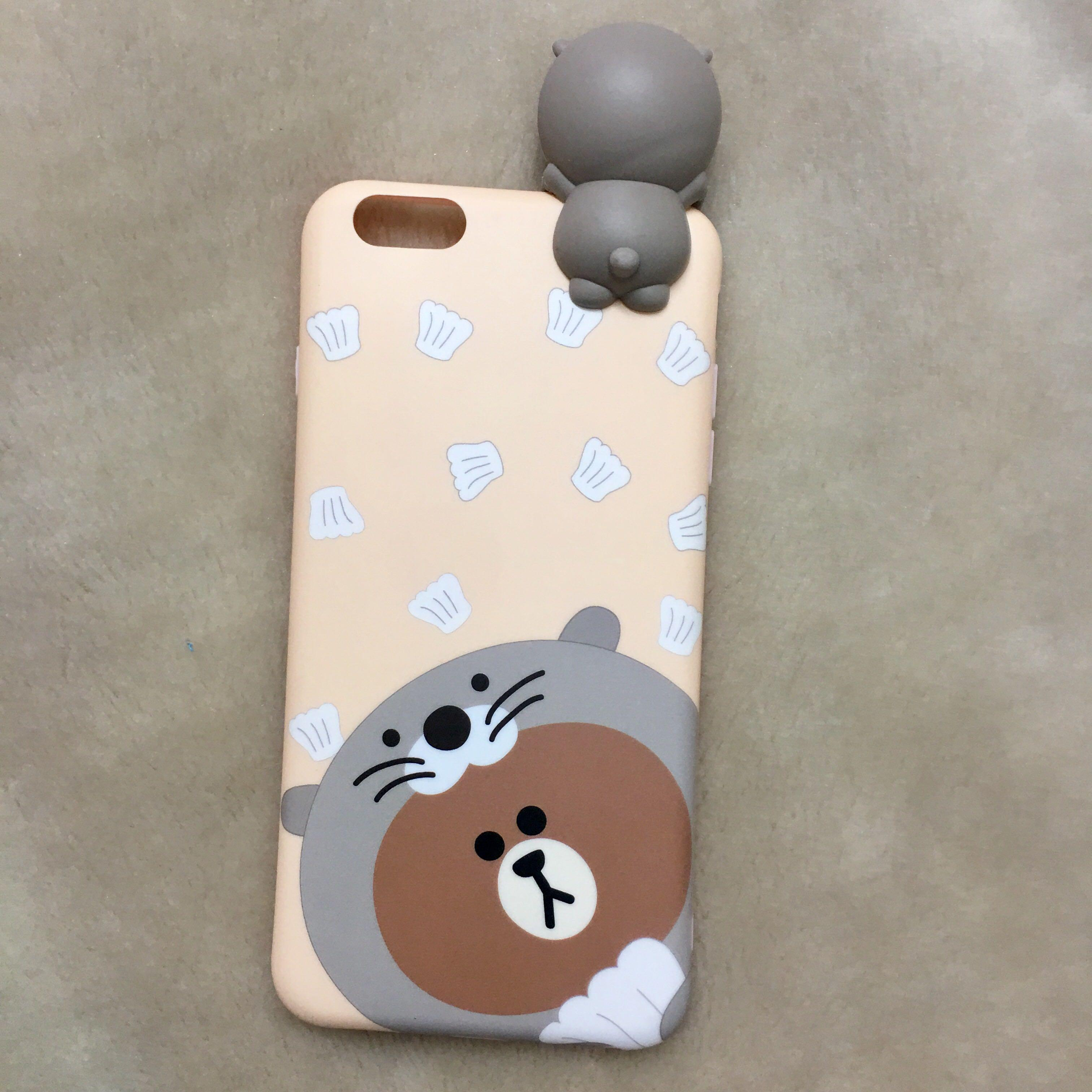 Brown Seal iPhone 6+ Case