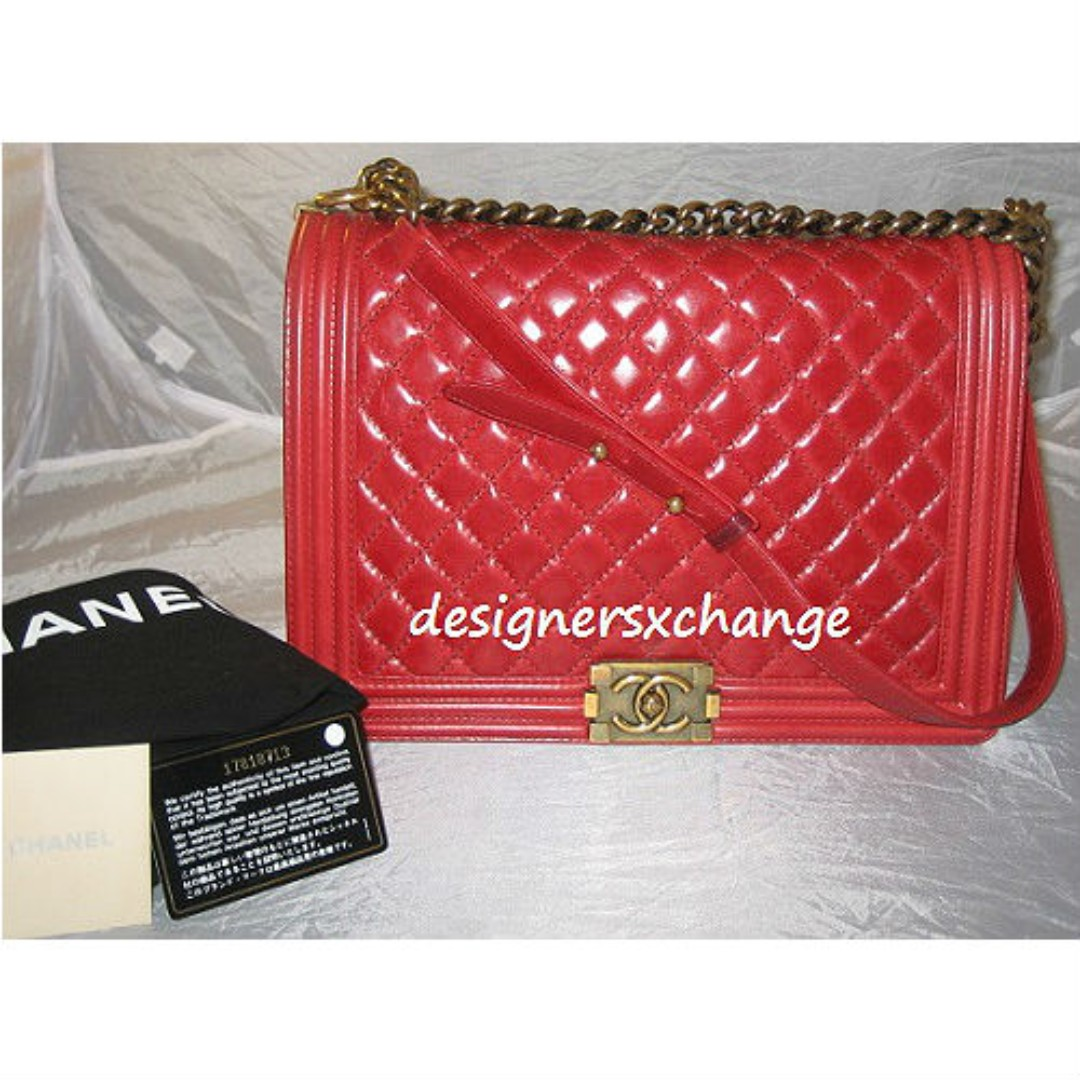 5335809cdbcd Chanel BOY Large Raspberry Distressed Calf Leather Flap with Antique ...