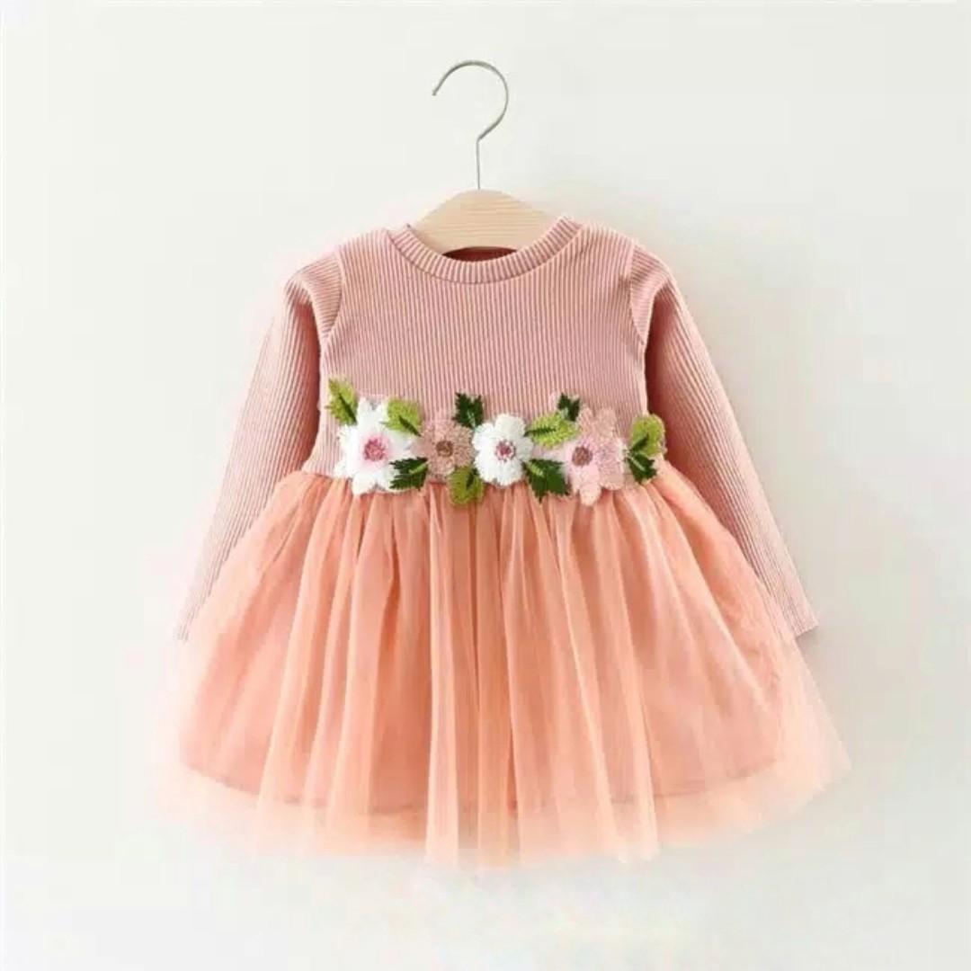 Emma Dress Dress Pesta Anak Perempuan Import Gaun Pesta Bayi