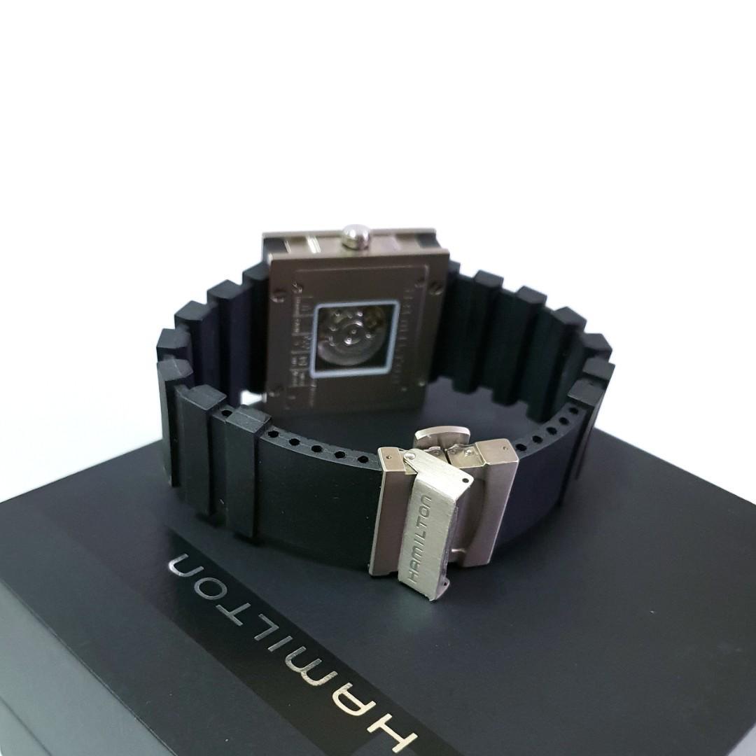 HAMILTON 漢米爾頓 卡其系列 方形 大錶徑 46mm 軍錶 鈦金屬錶殼