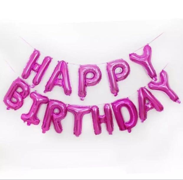 Happy Birthday Banner Foil Balloon Diy No Helium Design