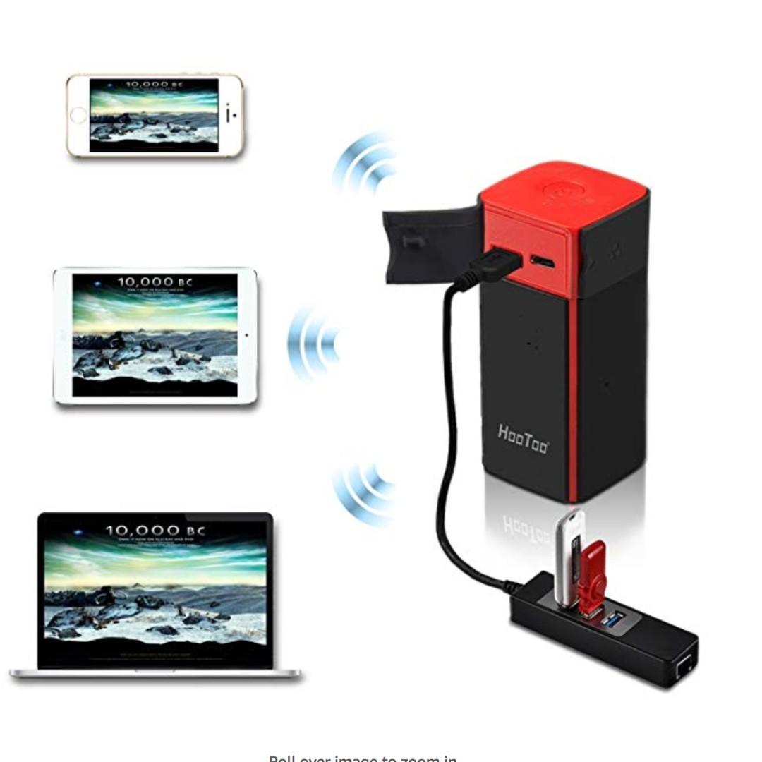 HooToo Wireless Travel Router, FileHub, 10400mAh External Battery, USB  Port, High Performance Travel Charger - TripMate Titan 300Mbps (Not a  Hotspot)