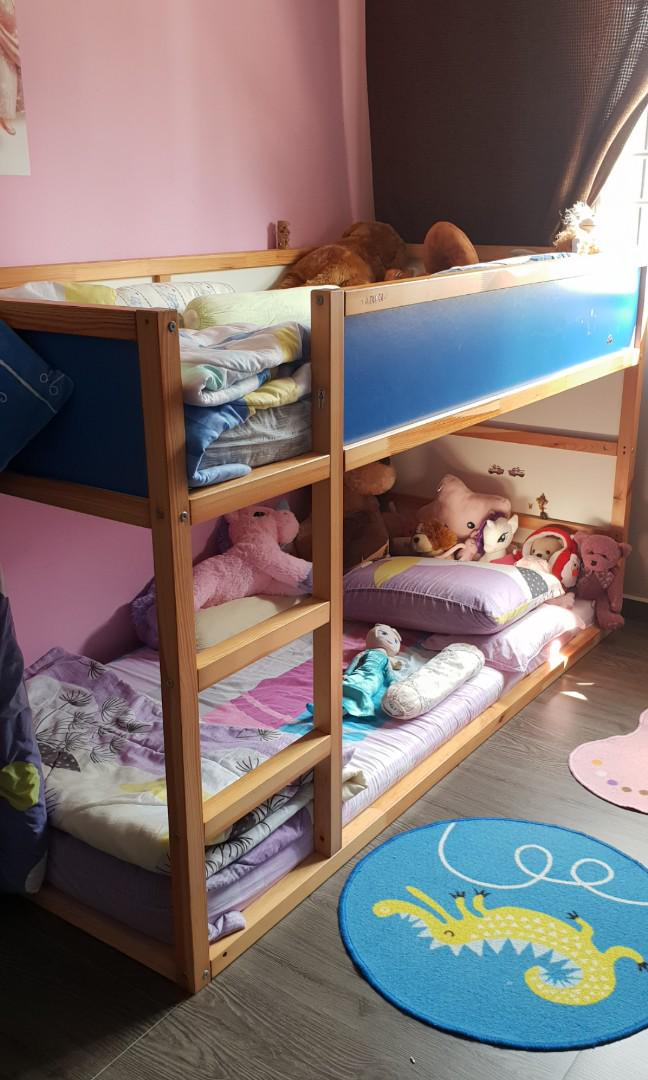 Ikea Kids Double Decker Bed Furniture Beds Mattresses On Carousell